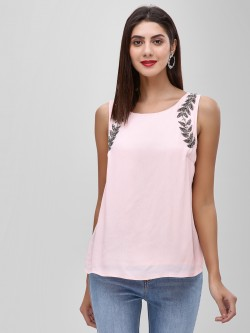 Cover Story Sequin Embellished Sleeveless Top