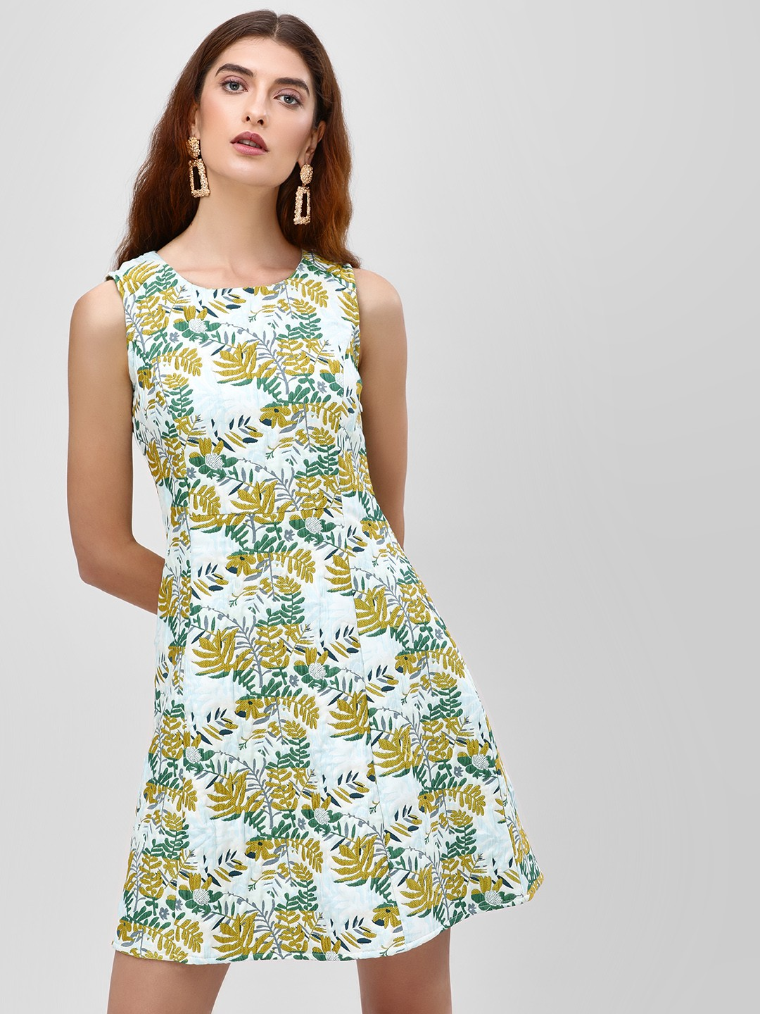 Cover Story Multi Jacquard Embroidered Shift Dress 1