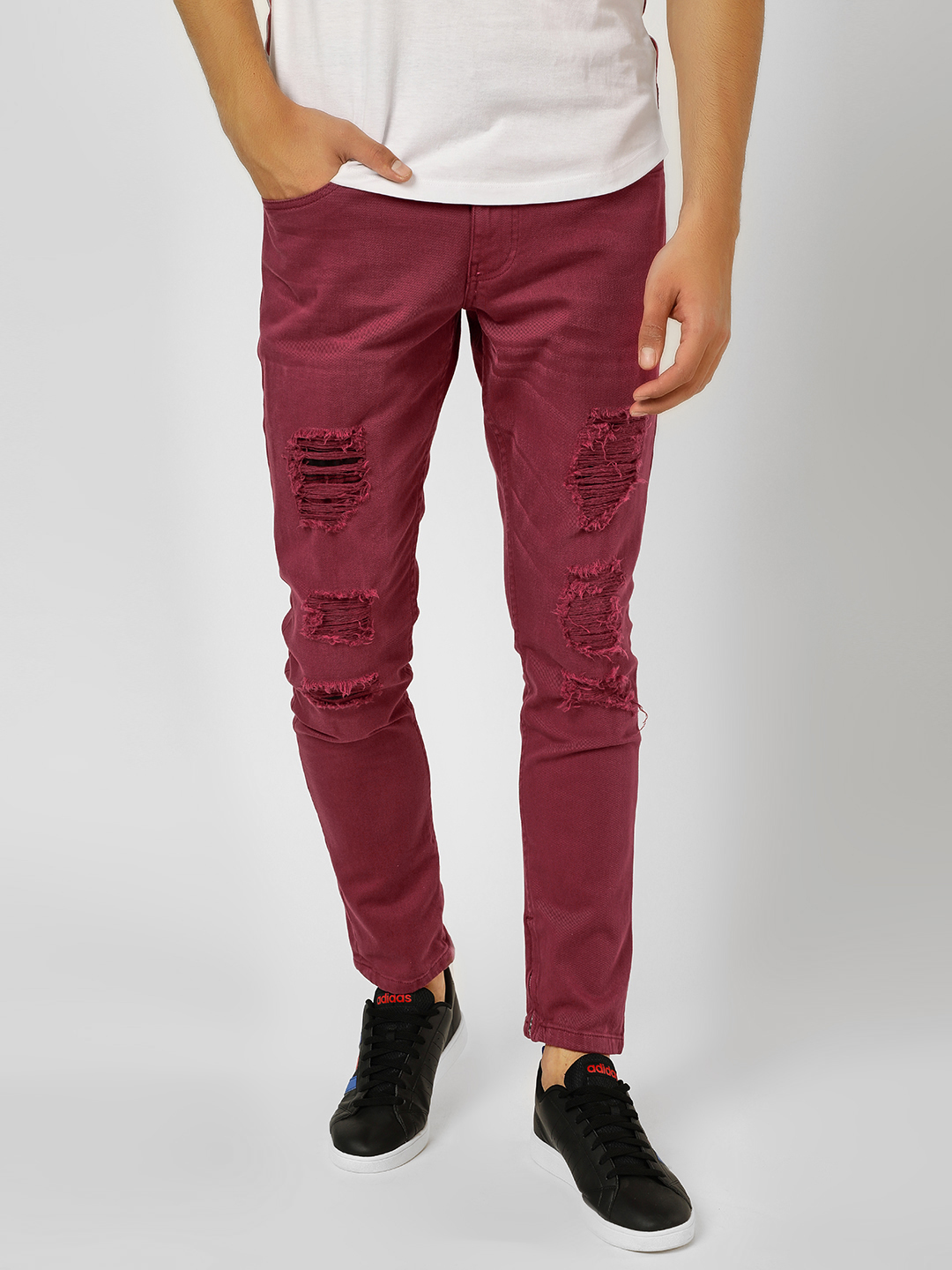 Blue Saint Red Distressed  Overdyed Skinny Jeans 1