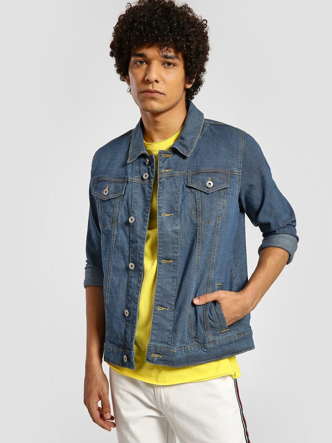 Blue Saint Blue Slim Fit Denim Jacket 1