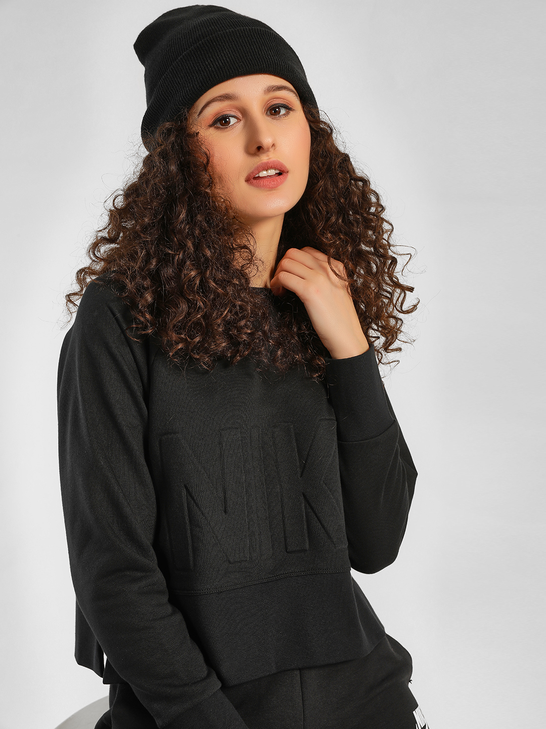 Nike Black As Crew Neck Sweatshirt 1