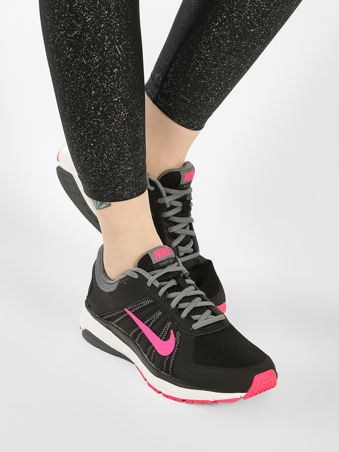 Nike Black/Pink Womens Dart 12 MSL Trainers 1