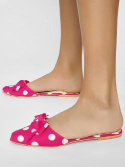 CAi Polka Dot Bow Detail Slides