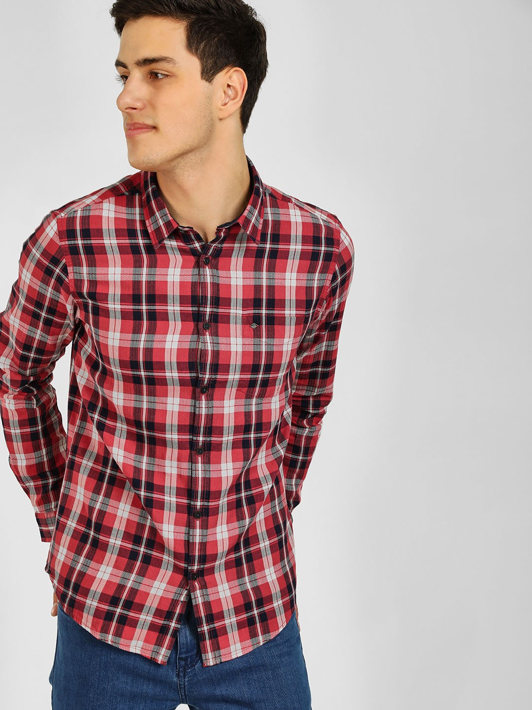Lee Cooper Red Yarn Dyed Check Shirt 1