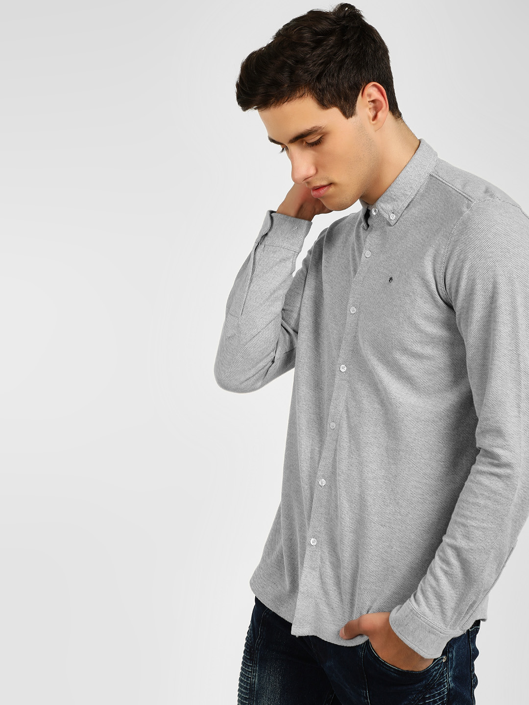 Lee Cooper Grey Casual Knit Shirt 1