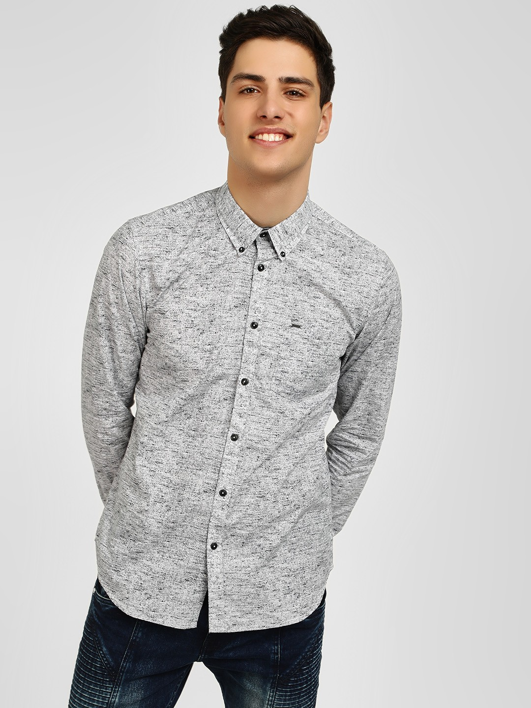 Lee Cooper Grey All Over Printed Shirt 1