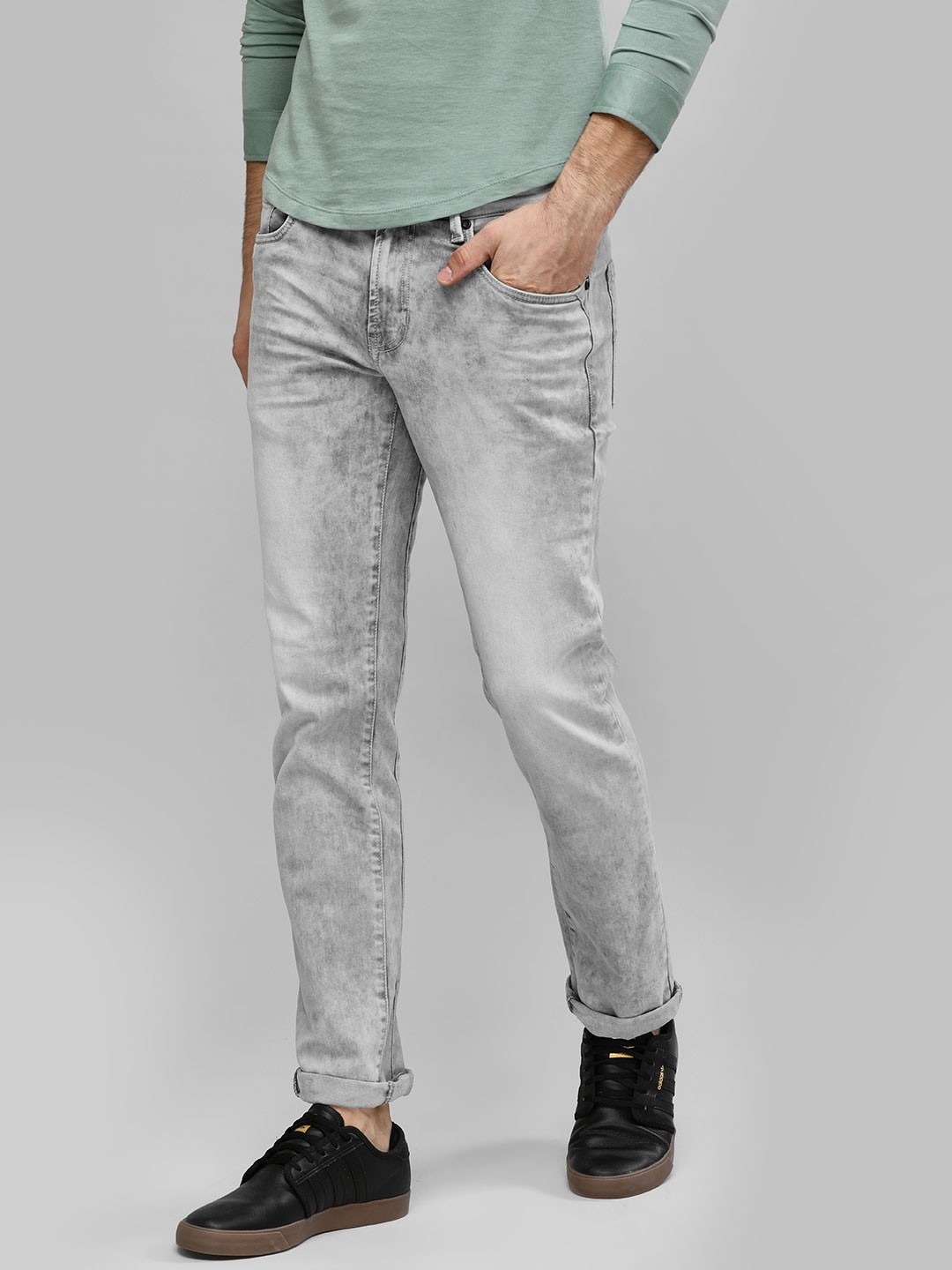 Buffalo Grey Regular Fit Denim Jeans 1