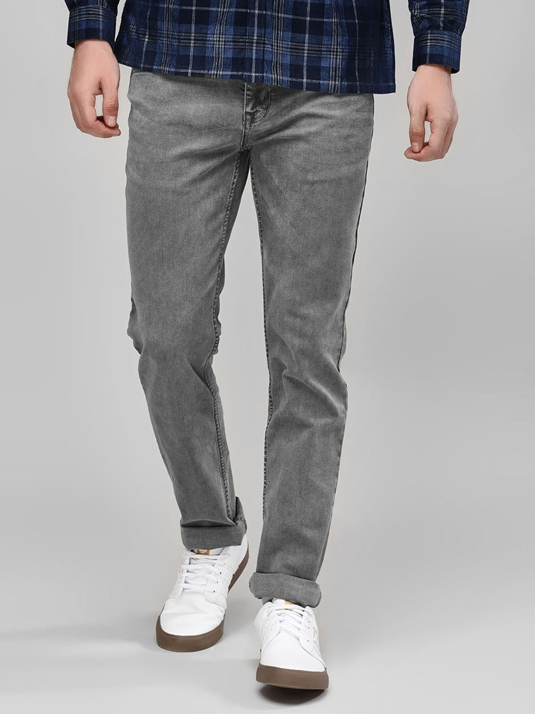 Buffalo Grey Basic Slim Fit Jeans 1