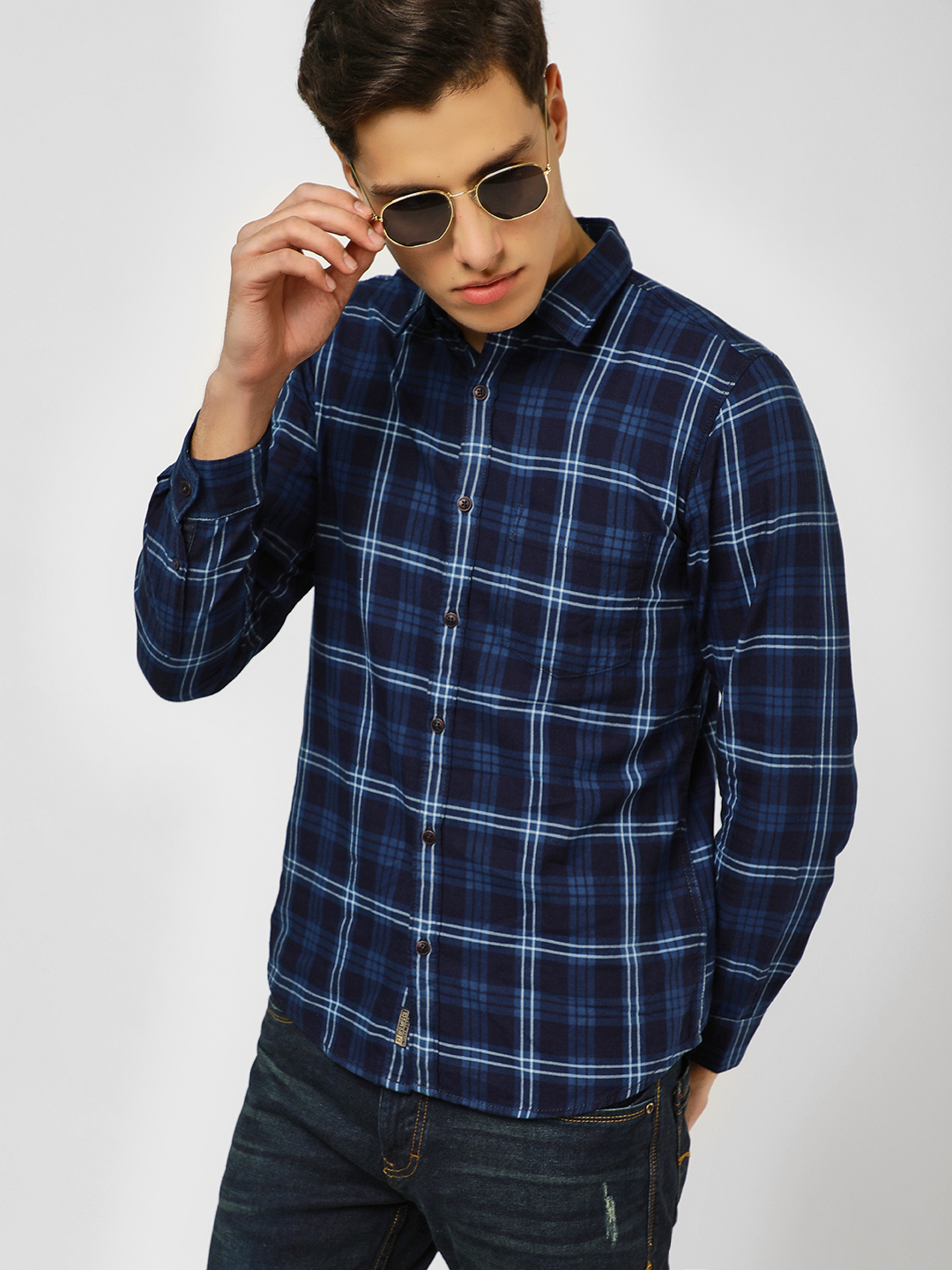 Buffalo Multi Checkered Long Sleeve Shirt 1