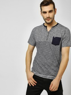 Buffalo Patch Pocket Striped Henley T-Shirt