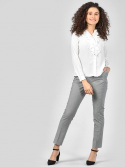 SCULLERS FOR HER Elasticated Plaid Trousers