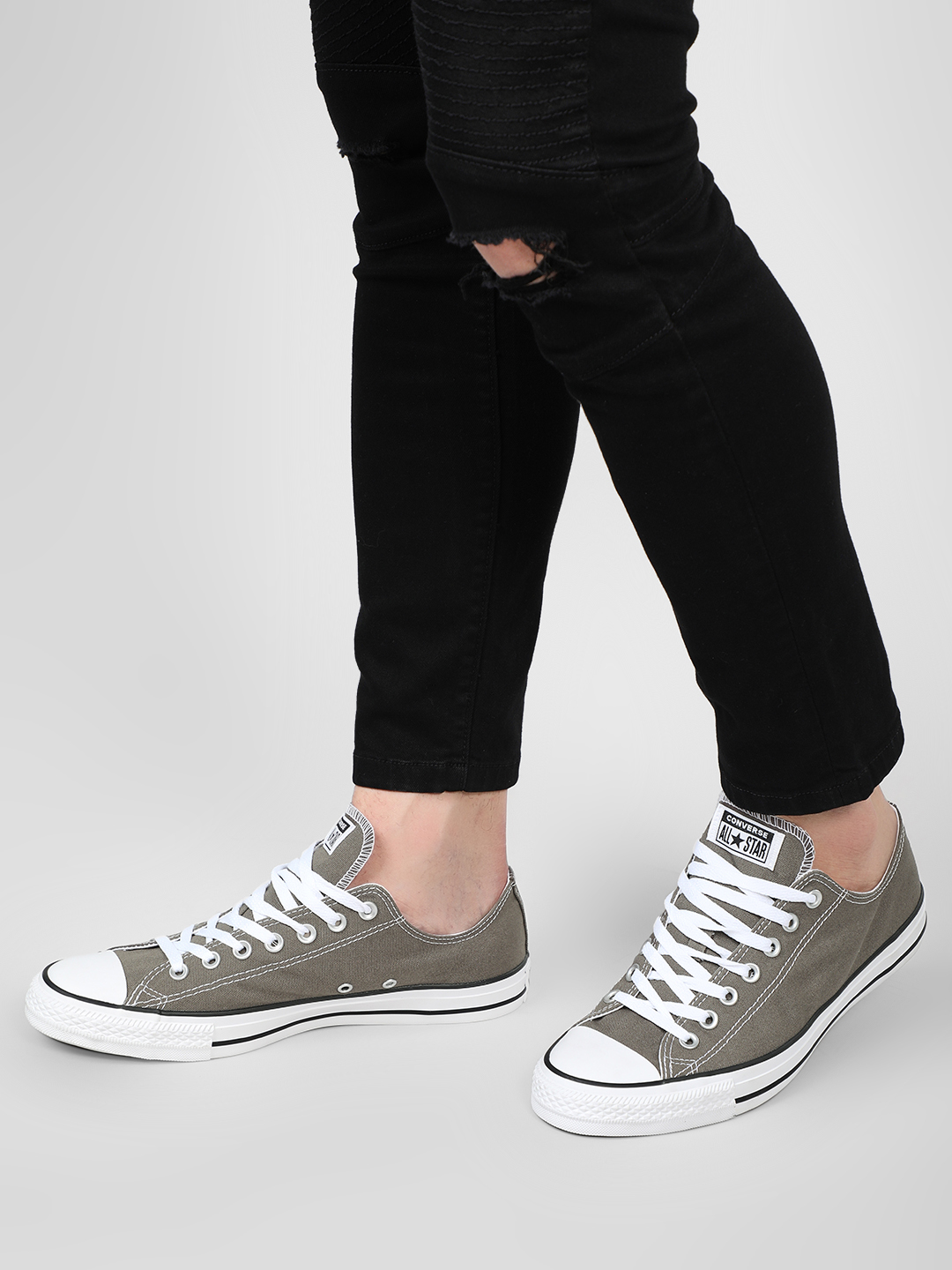 Converse Grey Chuck Taylor Low Top Sneakers 1