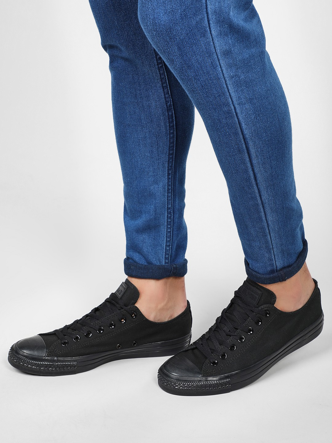 Converse Black Chuck Taylor Low Top Sneakers 1