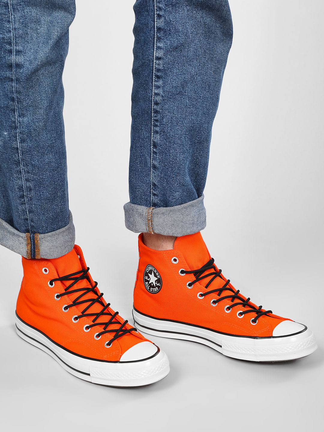 Converse Orange Chuck 70 Tech Hiker High Top Sneakers 1