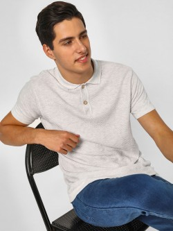 SCULLERS Basic Knitted Polo T-Shirt