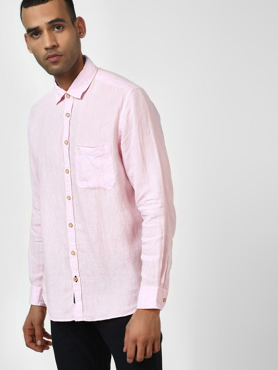 SCULLERS Pink Basic Long Sleeve Shirt 1