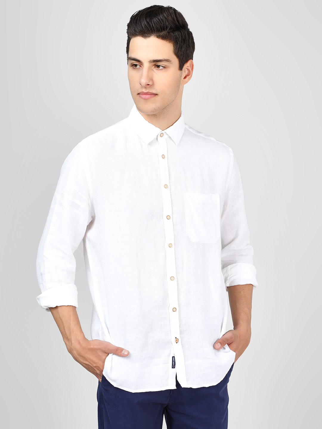 SCULLERS White Long Sleeve Casual Shirt 1