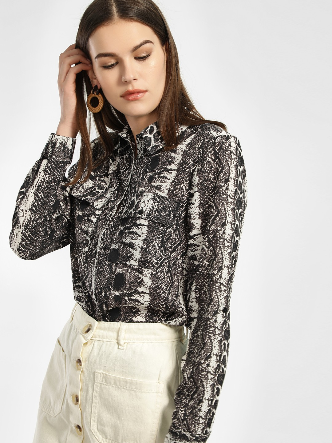 KOOVS Multi Animal Print Long Sleeve Shirt 1