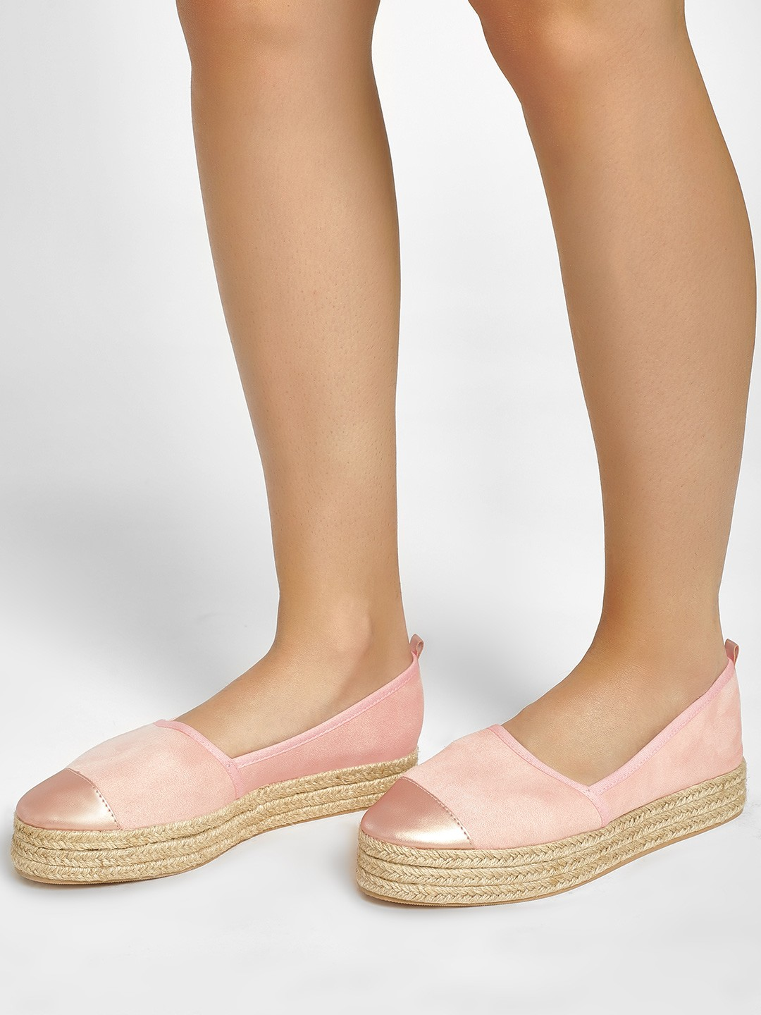 KOOVS Blush Basic Stacked Espadrilles 1