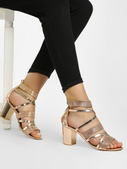 KOOVS Diamante Embellished Gladiator Heeled Sandals