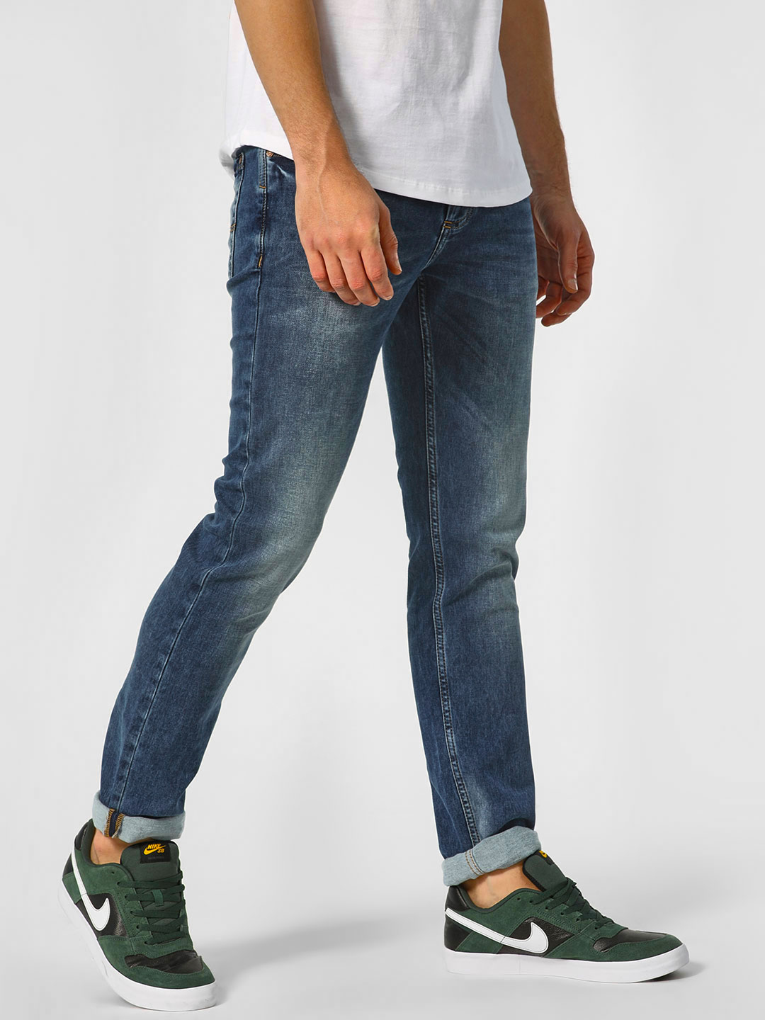 Indigo Nation Indigo Light Washed Slim Fit Jeans 1