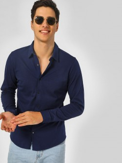 Indigo Nation Basic Shirt With Snap Button