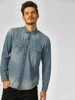 INDIGO NATION Textured Denim C...