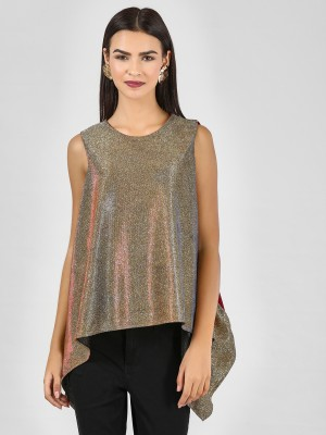 KOOVS Contrast Back Shimmer As...