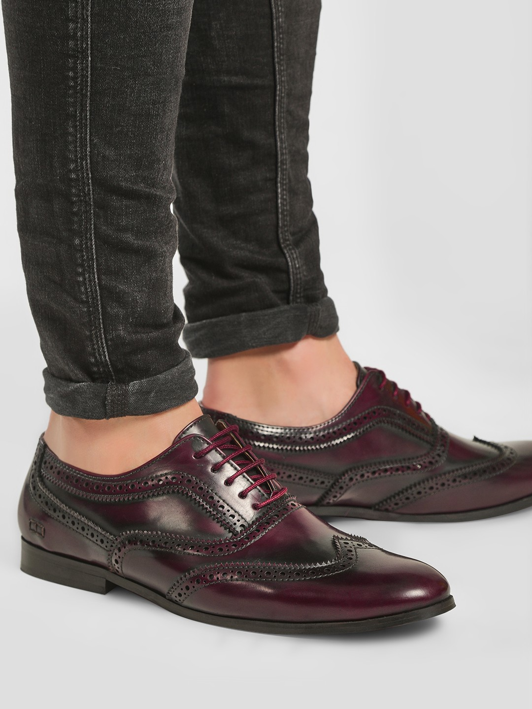 Griffin Red Two Tone Brogue Oxford Shoes 1
