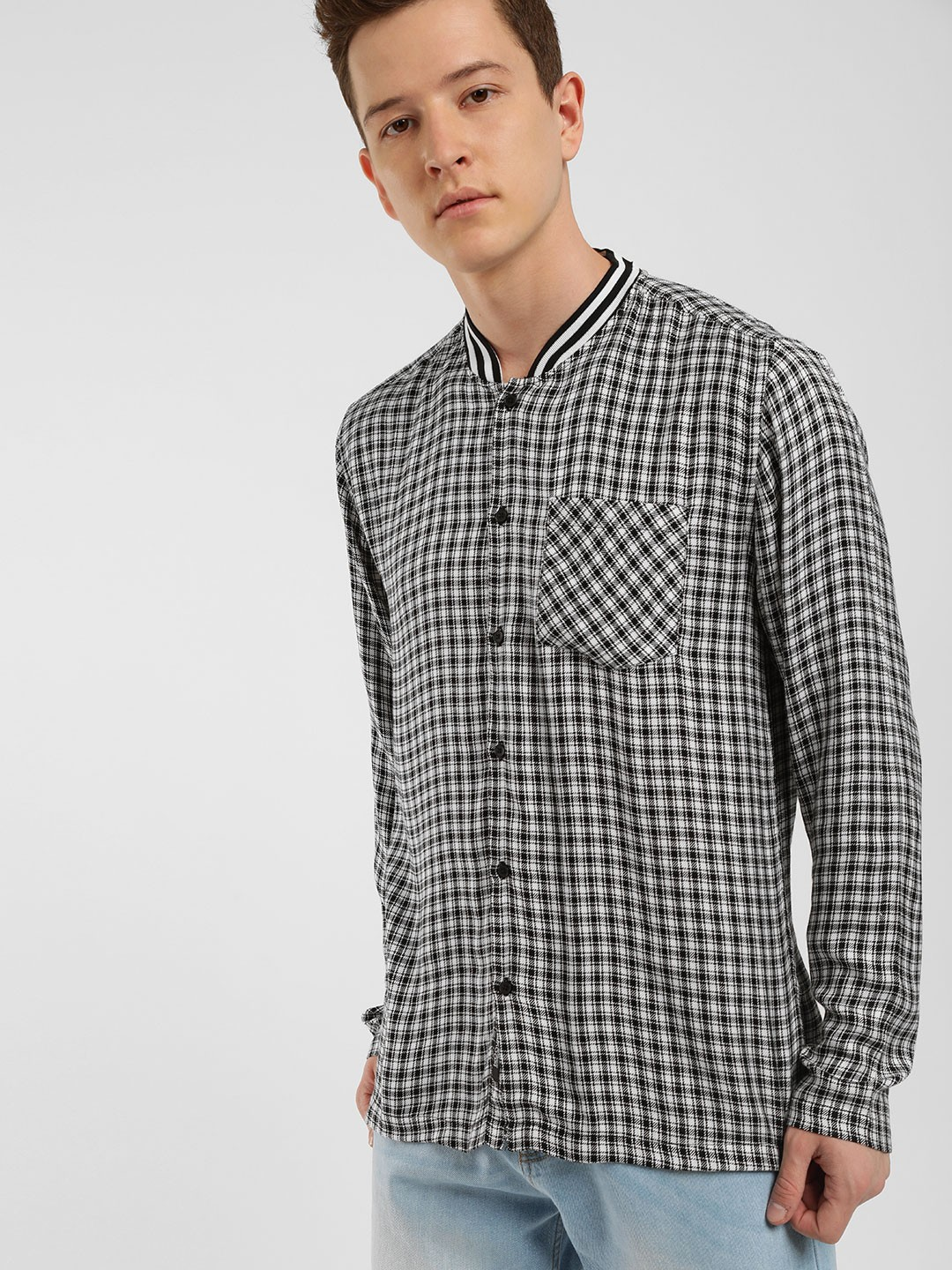 KOOVS Multi Mini Twill Baseball Shirt 1