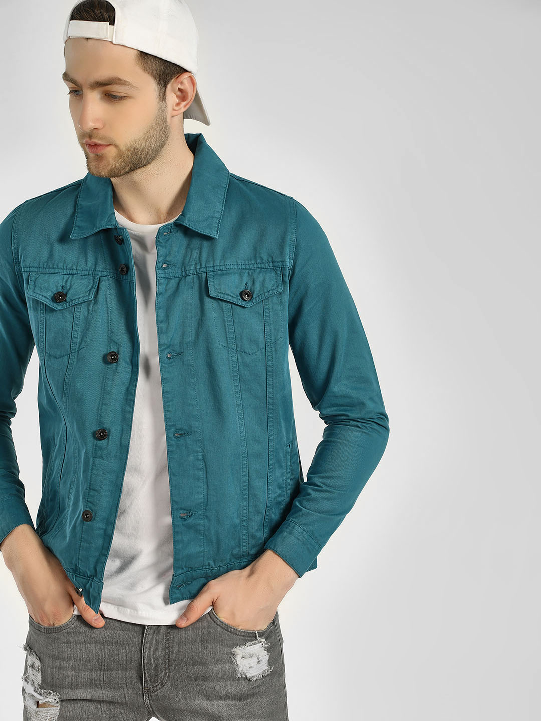 Blue Saint Light Blue Overdyed Denim Jacket 1