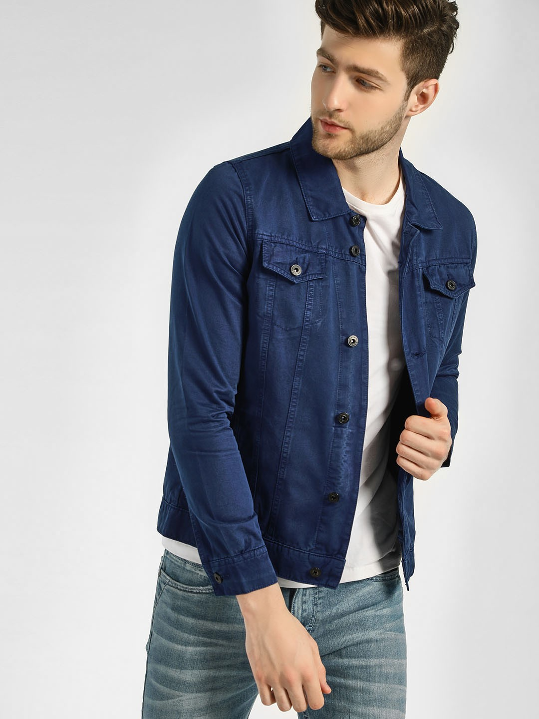 Blue Saint Dark Blue Overdyed Denim Jacket 1