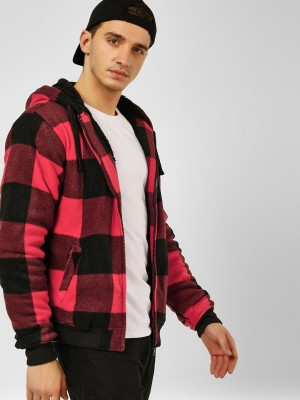 BRAVE SOUL Checkered Hooded Sw...