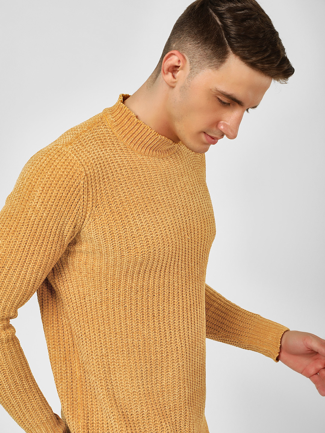 Brave Soul Gold Turtle Neck Knitted Pullover 1