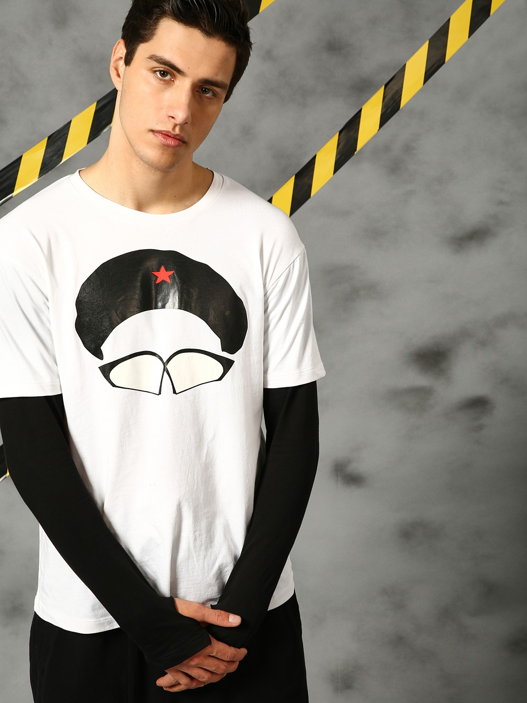 KUNAL RAWAL X KOOVS White Love For Grunge Beret T-Shirt 1