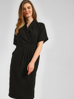 KOOVS Cinched Waist Midi Dress