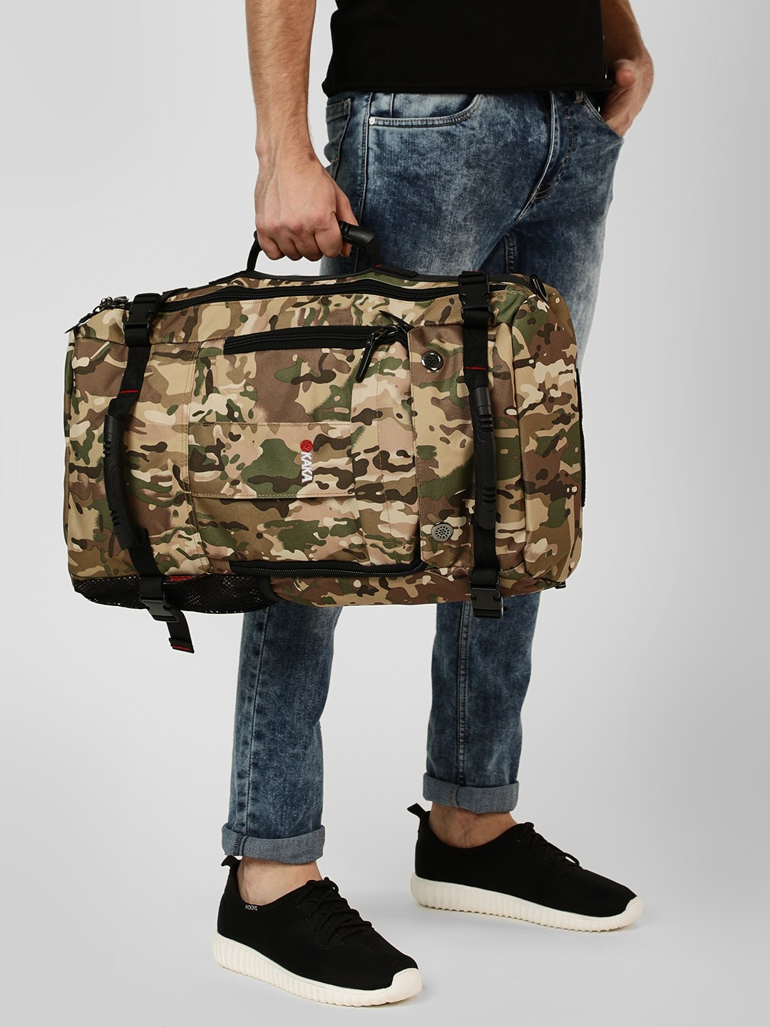 KAKA Multi Camouflage 3-Way Hiking Duffle Bag 1