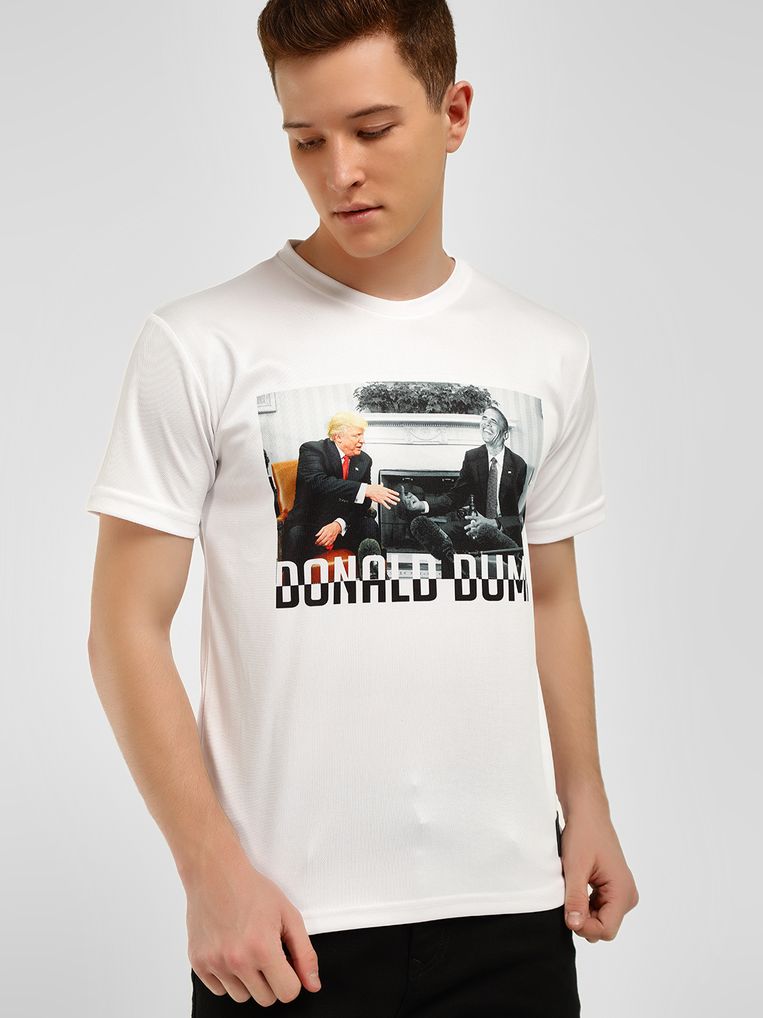 Fighting Fame White Graphic Print T-Shirt 1