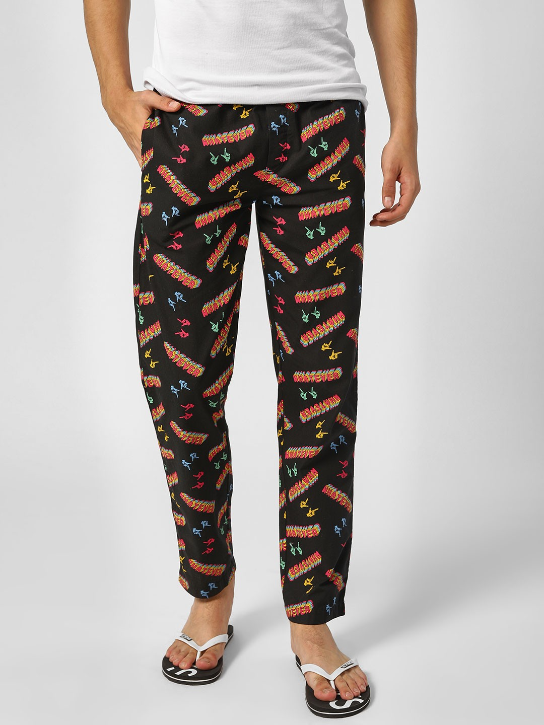 Jack & Jones Black Whatever Print Lounge Pants 1