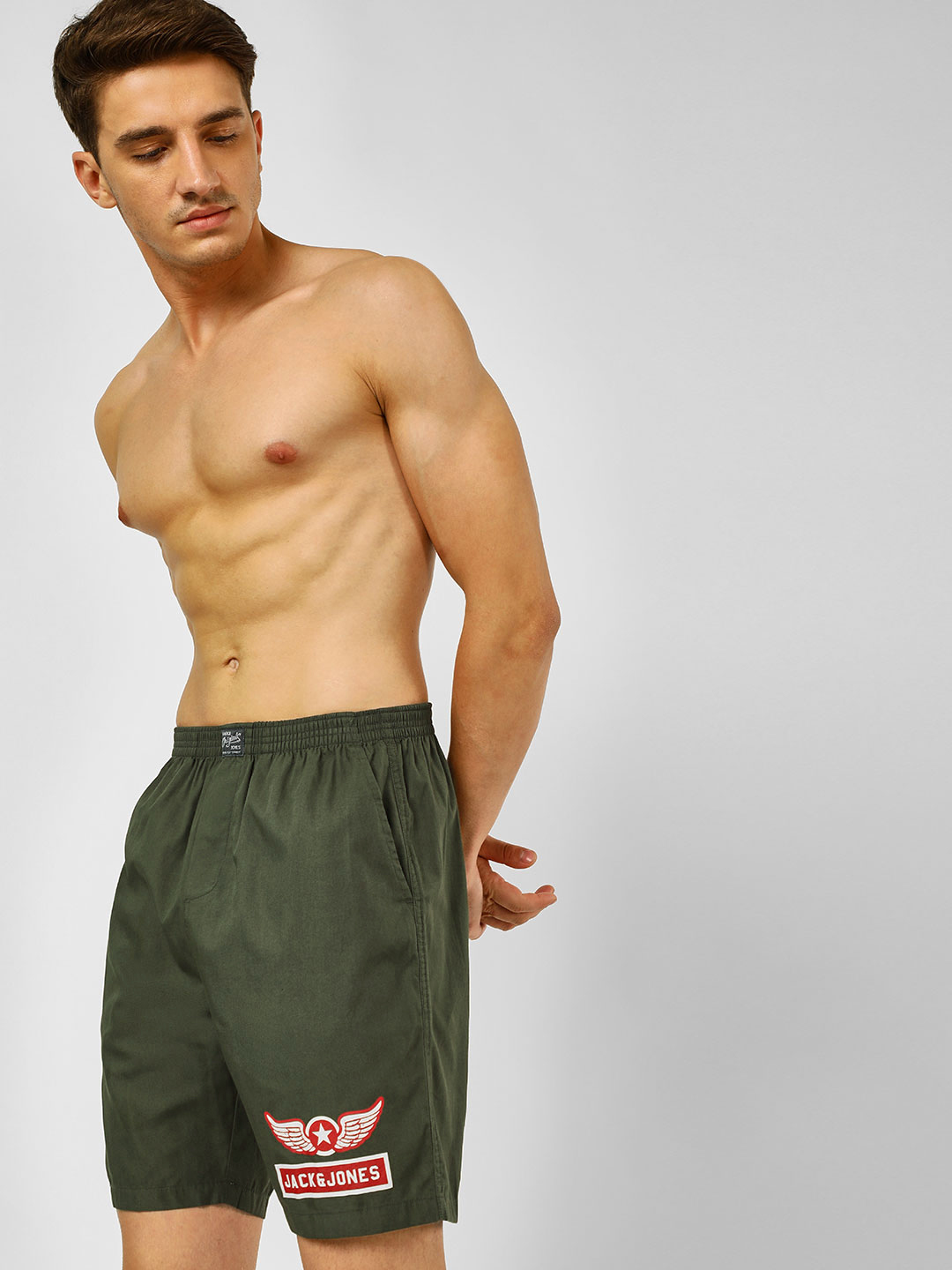 Jack & Jones Green Union Jack Print Boxers 1