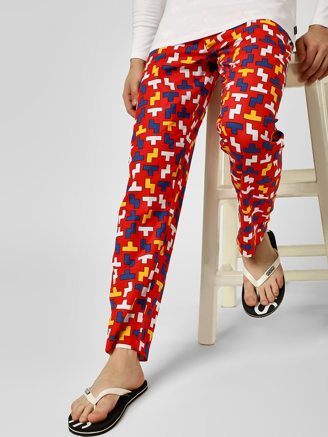 Jack & Jones Multi Tetris Print Lounge Pants 1