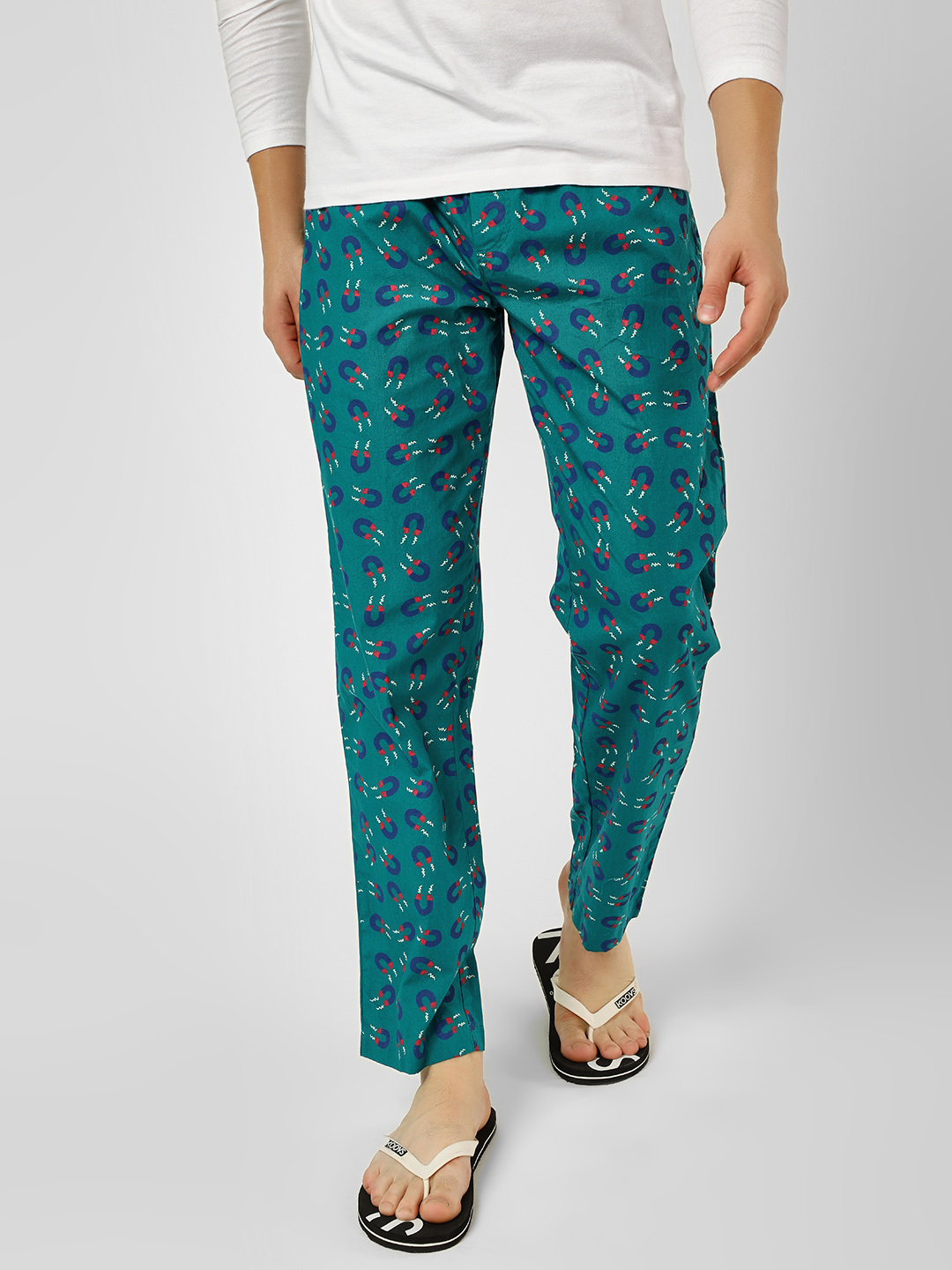Jack & Jones Green Magnet Print Lounge Pants 1