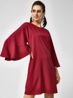 Femella Flared Sleeve Shift Dress