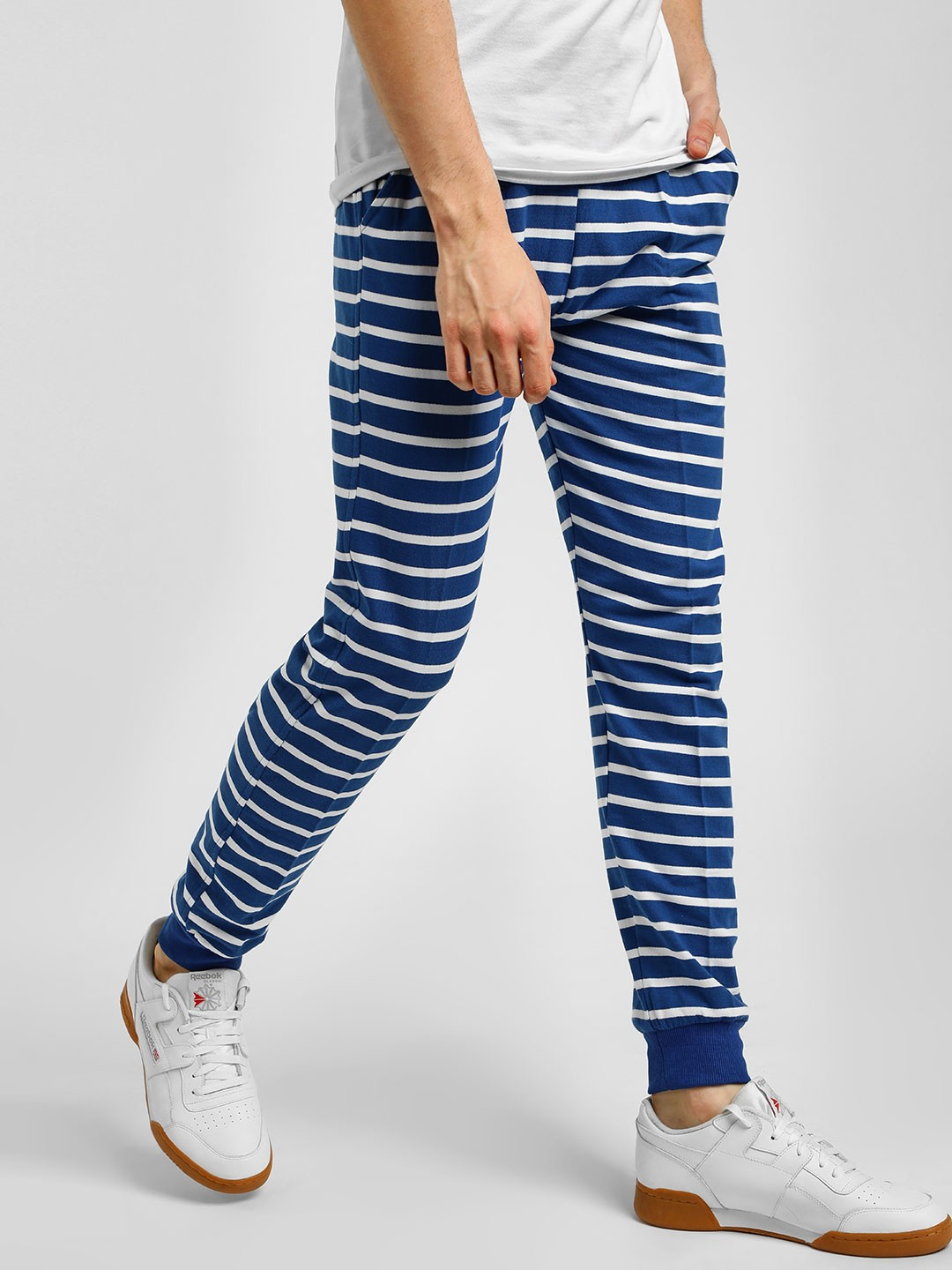 Blotch Blue Striped Track Pants 1