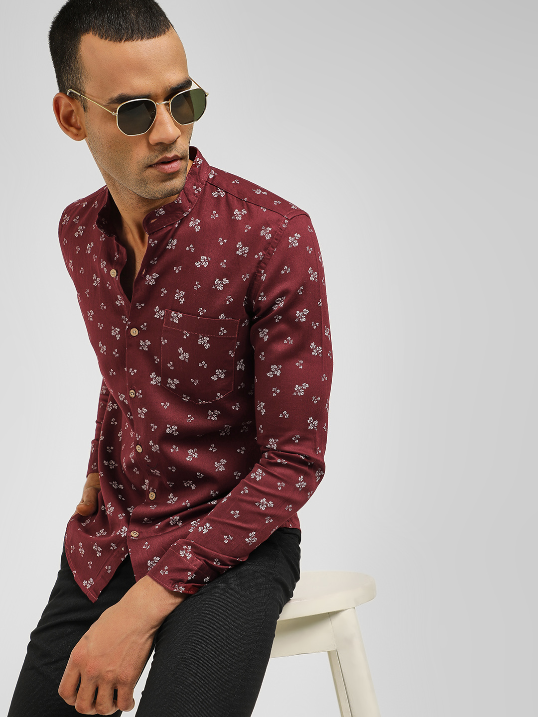 AMON Red Casual Print Shirt 1