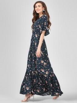 Cover Story Floral Printed Maxi Dress