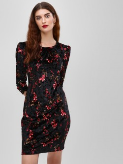 Cover Story Floral Printed Bodycon Dress