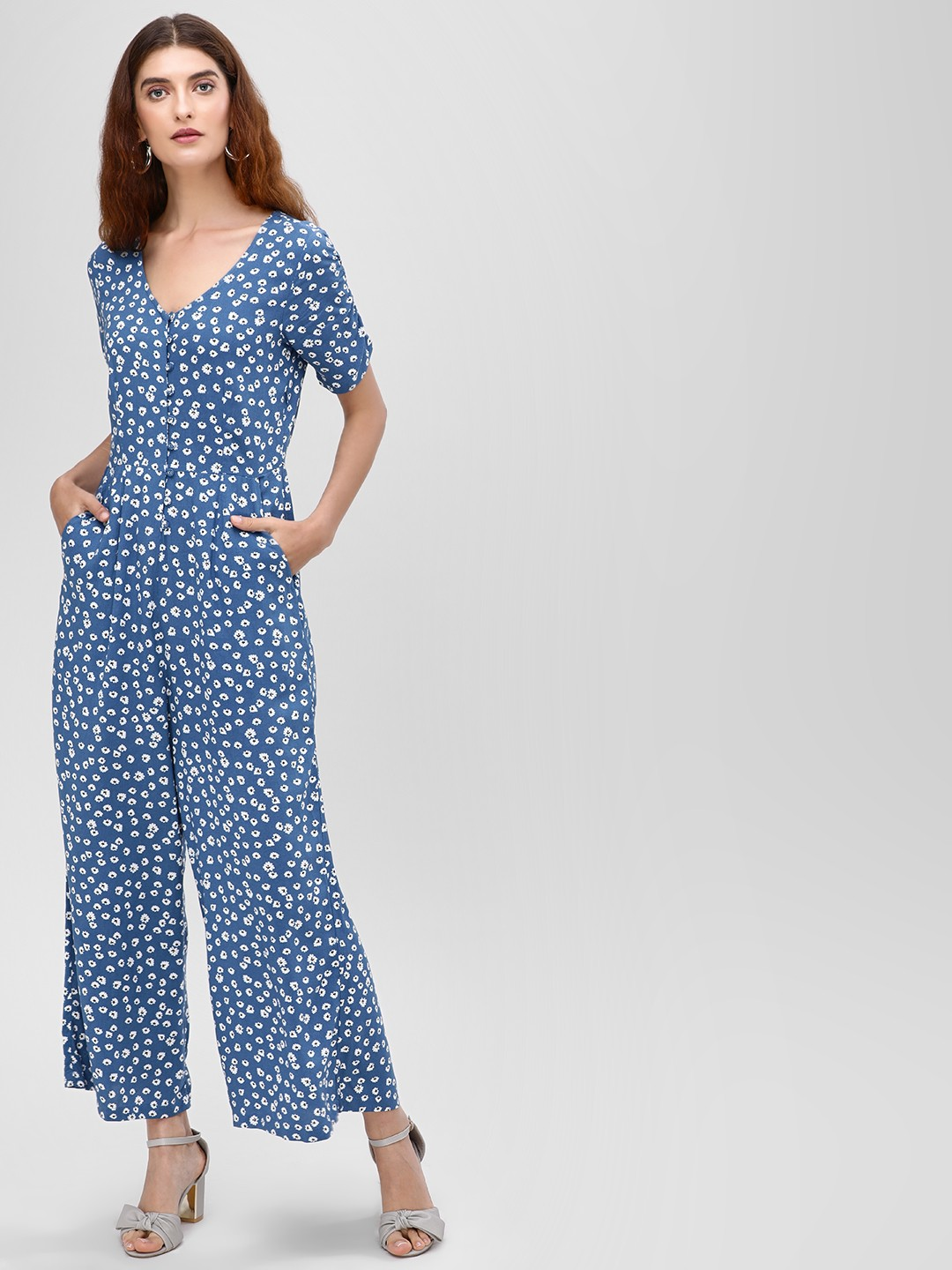 Cover Story Print Ditsy Floral Printed Jumpsuit 1