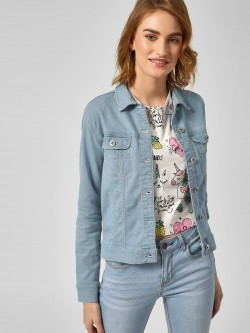 Blue Saint Basic Crop Denim Jacket