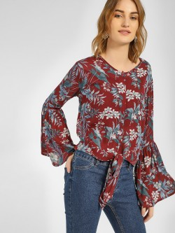 RIG Tropical Floral Print Top